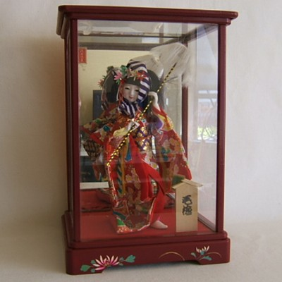 Vintage Japanese Costume Doll, Festival, Case