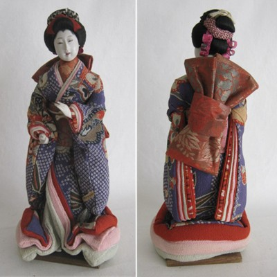 Antique Japanese Woman Costume Doll, Meiji, 10-3/4""