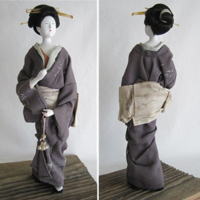 Antique Japanese Doll, Amorous Woman, RARE!