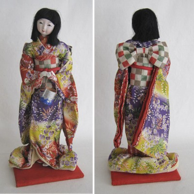 Antique Japanese Costume Doll, Young Lady, Taisho