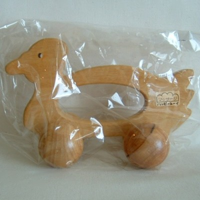 Duck, Wooden Japanese Modern Toy with Wheels, MINT