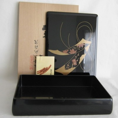 Lacquered Wood Japanese Letter Box