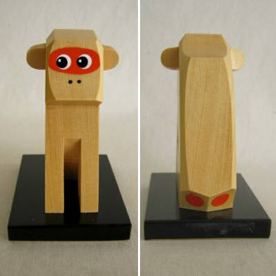 Monkey Wooden Japanese Folkcraft