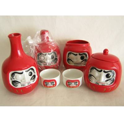 Daruma Ceramic Set, Mint