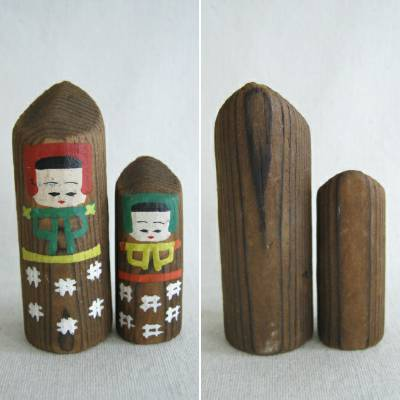 Japanese Folk Craft Dolls, 3 Pairs