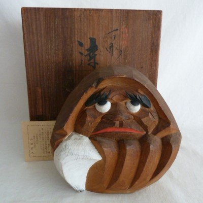 Ittobori Daruma, Wood Box #32883