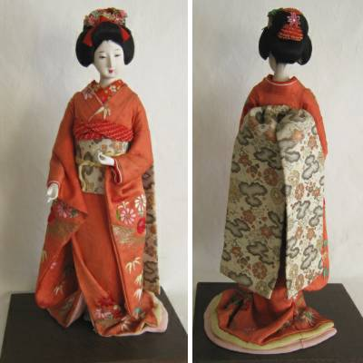 Antique Japanese Costume Doll, Maiko