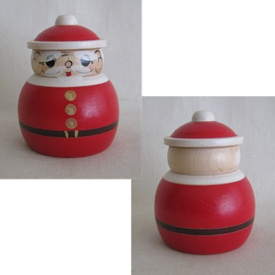 Sakunami SANTA Traditional Kokeshi, NEW