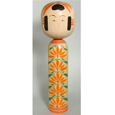 Zao Traditional Kokeshi, Endou, 9-3/4""