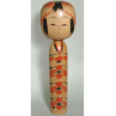 Togatta Traditional Kokeshi, 12-1/8""