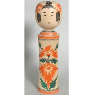 Narugo Traditional Kokeshi, Sugawara, 8-1/2""