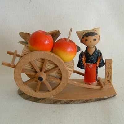 Apple Seller Nodder Creative Kokeshi