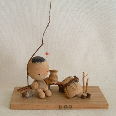 Boy Fishing Creative Kokeshi