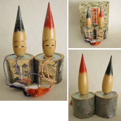 Creative Kokeshi Brush/Hot Tub/Scenery Pair