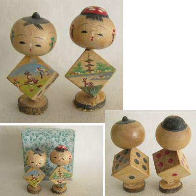 Creative Kokeshi Dice Pair