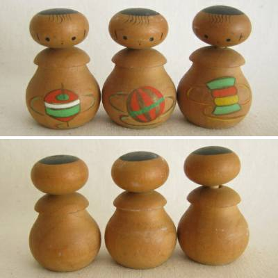 Creative Kokeshi Nodder Set of 3