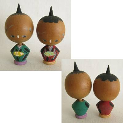 Creative Kokeshi Large Head Pair