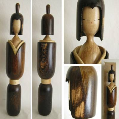 Modern Creative Kokeshi, Shouzan, Slight Damage, 18-7/8""