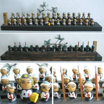 Creative Kokeshi Diorama of the 47 Ronin