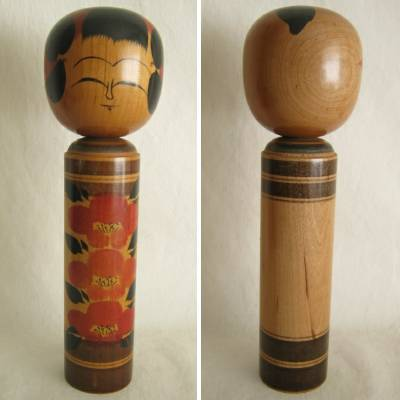 Creative Kokeshi, Dark Wood, 9-1/2""