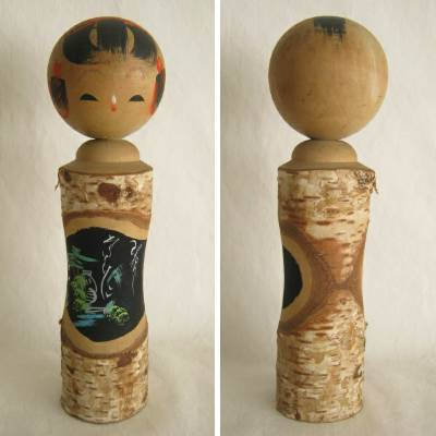 Creative Kokeshi, Bark & Scenery, 9-1/2""