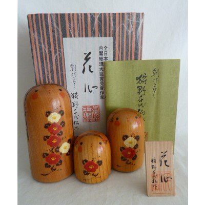 Modern Creative Kokeshi Set of 3, Kano, #73100