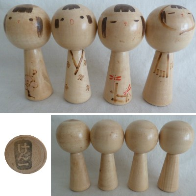 Modern Creative Kokeshi, Murikami, Four Seasons, #73103