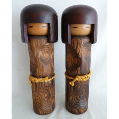Modern Creative Kokeshi, Usaburo, Lot of 2 #73113