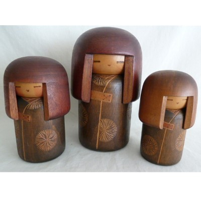 Modern Creative Kokeshi, Sekiguchi, Dojo, Lot of 3 #73191