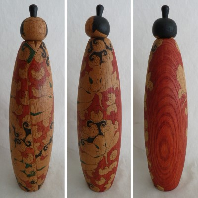 "ON HOLD: Modern Creative Kokeshi, Kuribayashi, 11-7/8"" #73225"