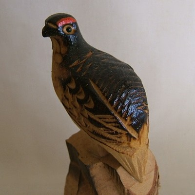 Japanese Carved Thunderbird, Folk Craft