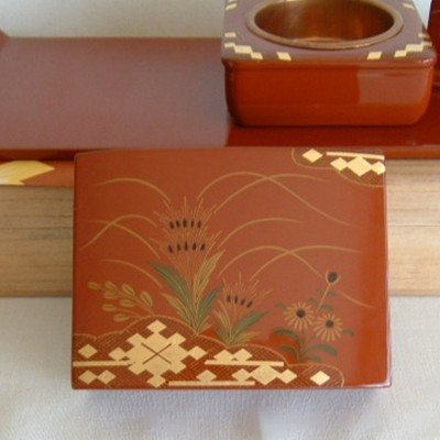 Ouchi Lacquerware Japanese Smoking Set
