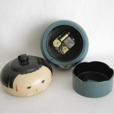 Lacquered Japanese Wooden Music Trinket Box
