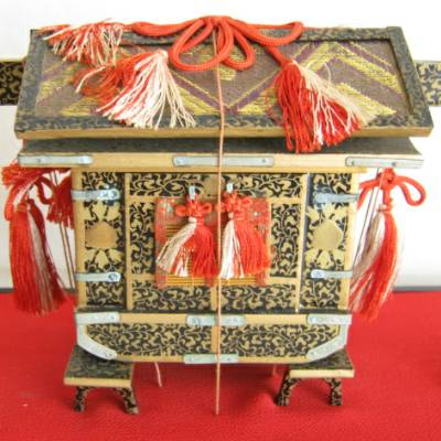 Antique Japanese Hina Doll Accessory, Palanquin