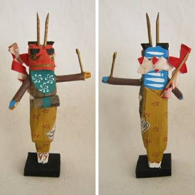 Oni Folkcraft Figures, Lot of 2