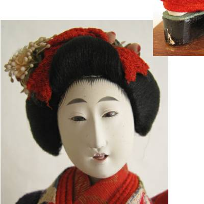 Antique Japanese Costume Doll, Maiko, 9-3/8""