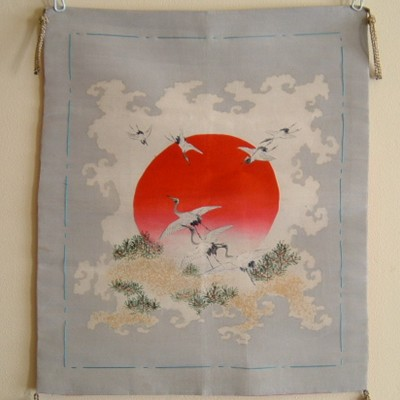Japanese Fukusa with Cranes