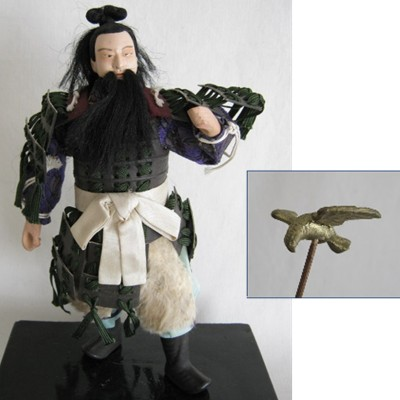 Antique Japanese Doll, First Emperor Jimmu (#2)