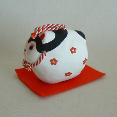 Rabbit Paper Mache Bell Japanese Folkcraft