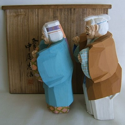 Noh Ittobori Old Couple of Takasago, Box