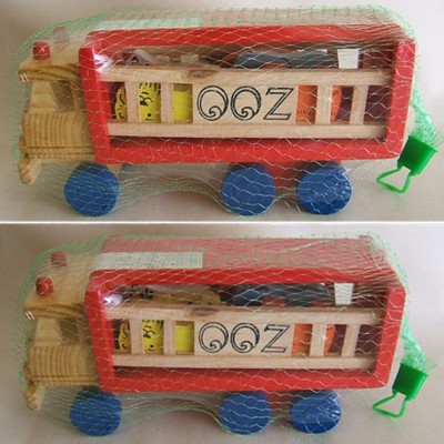 Japanese Wooden Travelling Zoo Pull Toy