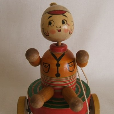 Traditional Japanese Pull Toy, Boy