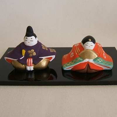 Hina Emperor and Empress, Clay, Set #3