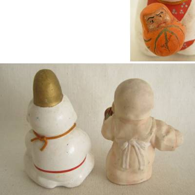 Clay Folk Craft Babies, Lot of 2