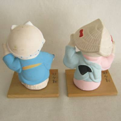 Clay Festival Girl & Boy, Japanese Folkcraft