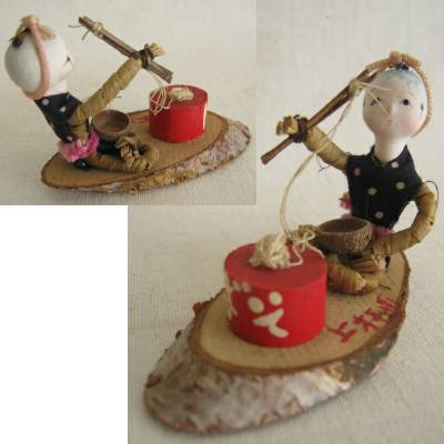 Folkcraft Straw Doll, Eating Noodles