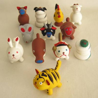 Zodiac Wood Folkcraft Animal Set, MIB