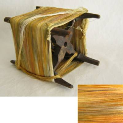 Wooden Thread Spool (Itomaki), w Gold+ Silk
