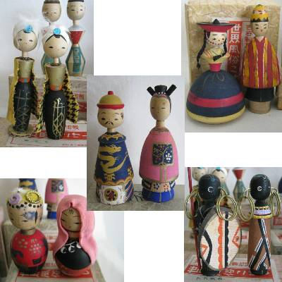 Creative Kokeshi International Dolls, 13 Pairs +1