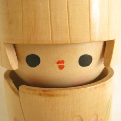 Modern Creative Kokeshi, Long Head, 6-1/8""